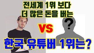 세계 1위 유튜버 vs 대한민국 1위 유튜버 누가 더 많이 벌까,  수입 공개!