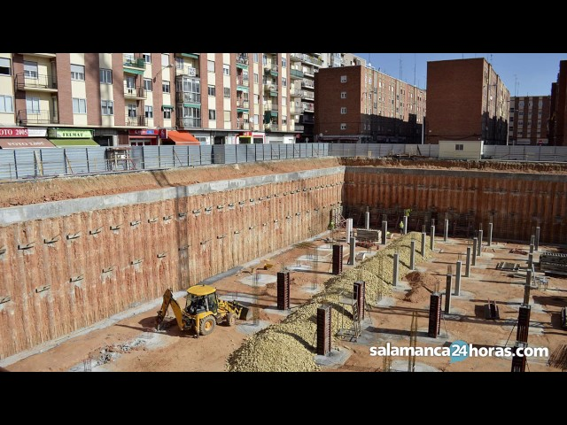 Evolución de las obras del parque de Garrido
