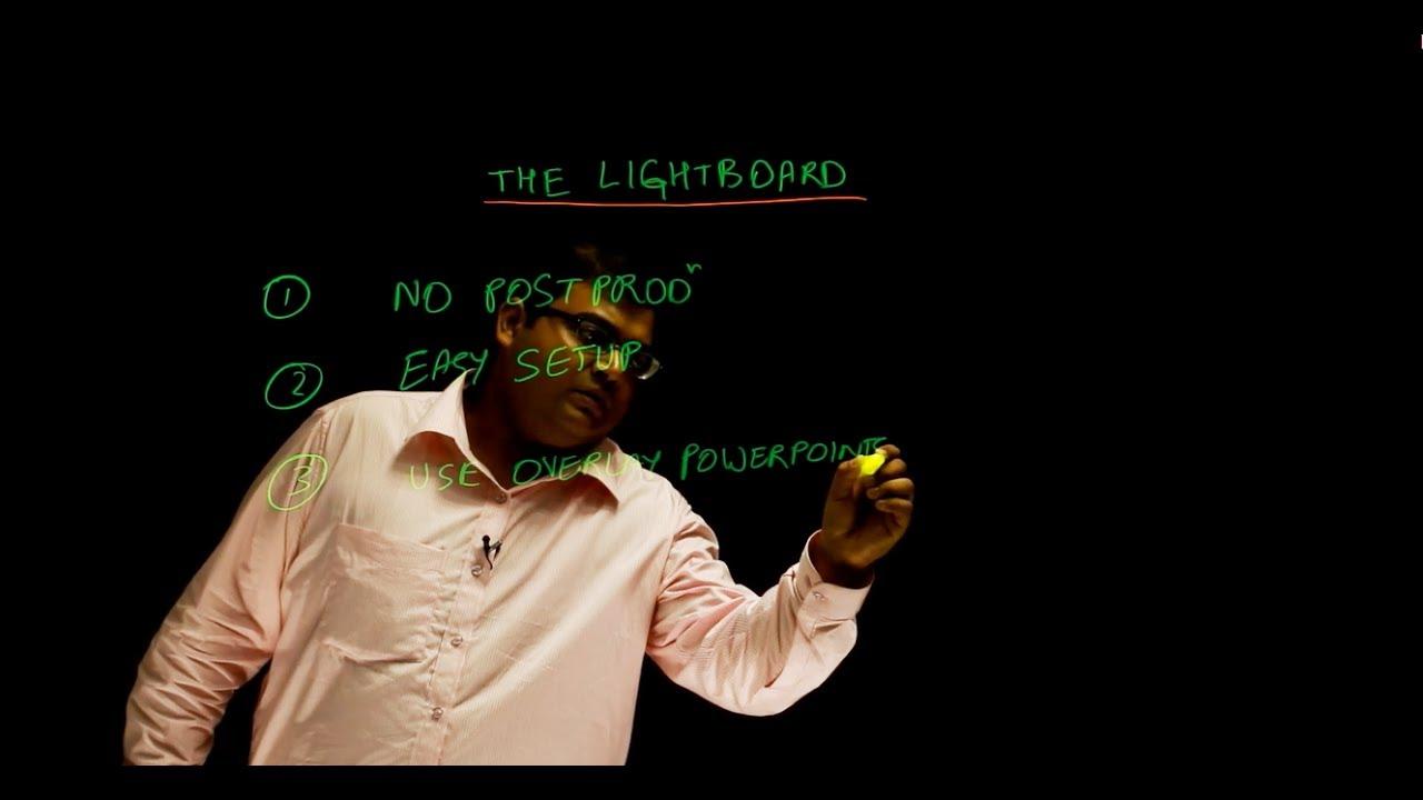 Lightboard lecture recording studio India