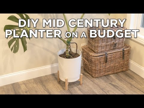DIY Mid-Century Modern Planter ( on a budget )