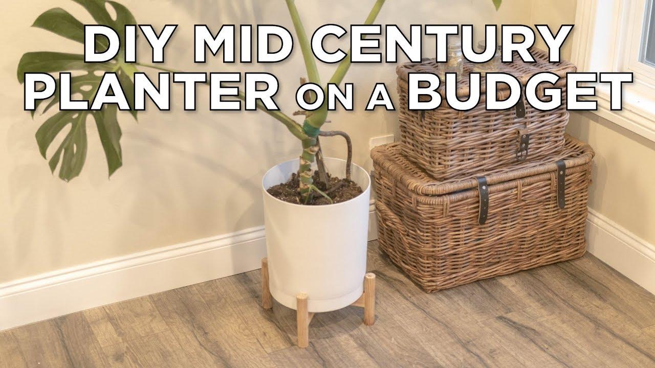 Diy Mid Century Modern Planter On A Budget Youtube