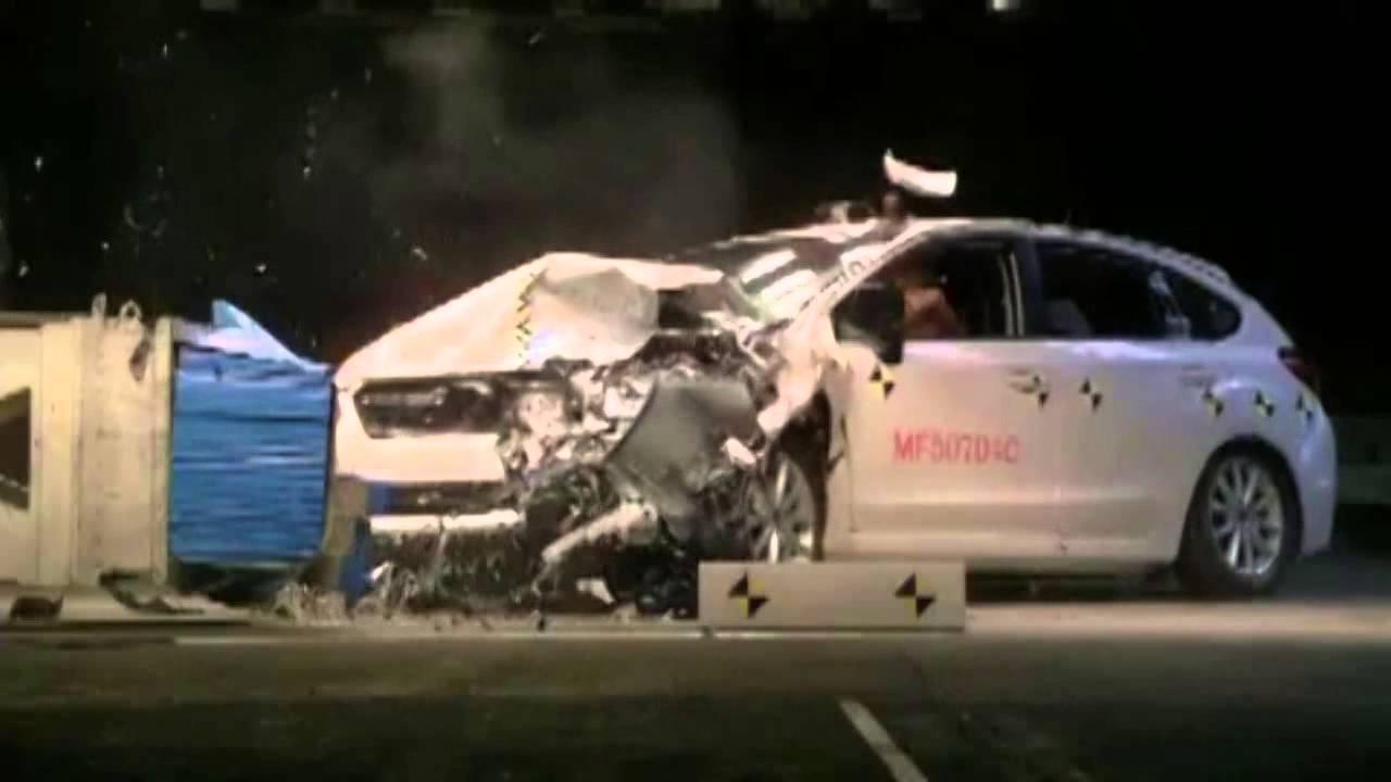 2013 Subaru ImprezaXV Crosstrek IIHS Frontal Offset Top Safety