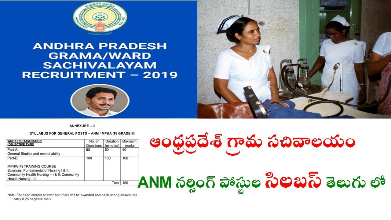 Repeat Andhra Pradesh Grama Sachivalayam ANM Nursing Posts