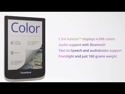 PocketBook Color – your next page is in color! Europe's first color e-reader with E Ink Kaleido