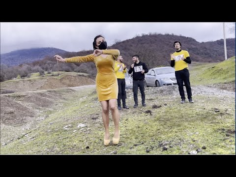 Lezginka dance with heeled girl on poor surface part2