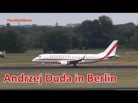 Poland Government Embraer 175 landing in Berlin-Tegel