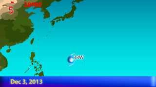 2013 Pacific Typhoon Season Animation