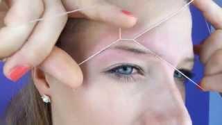 Augenbrauen zupfen: Fadenzupftechnik ! Einfache Anleitung -Tutorial |sooohhalt