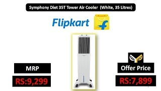 Symphony Diet 35T Tower Air Cooler (White, 35 Litres)