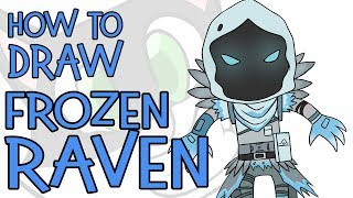 How To Draw Frozen Raven (Fortnite)