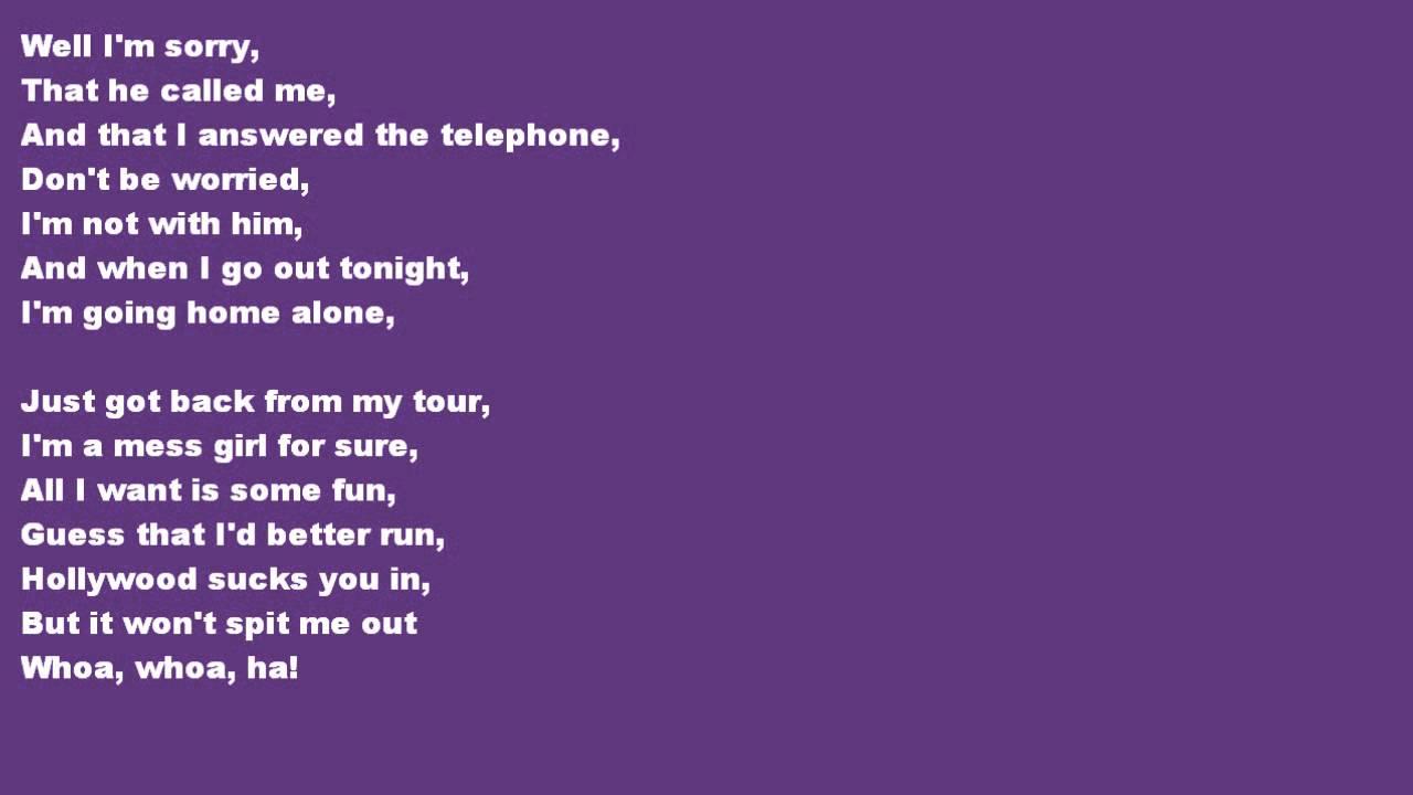 Lyrics to Boyfriend - Ashlee Simpson
