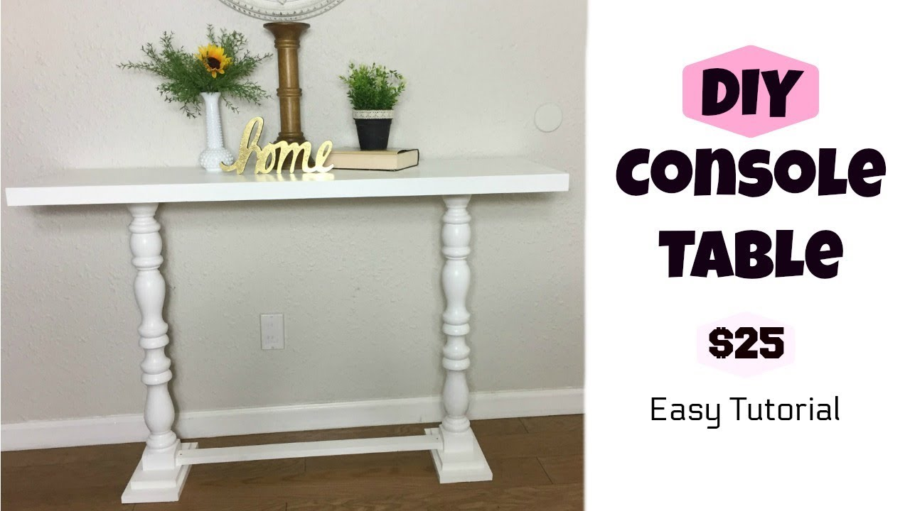 Diy Console Table Youtube