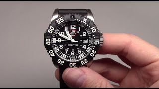 Luminox Steel Colormark Black Men's Watch Review Model: 3151