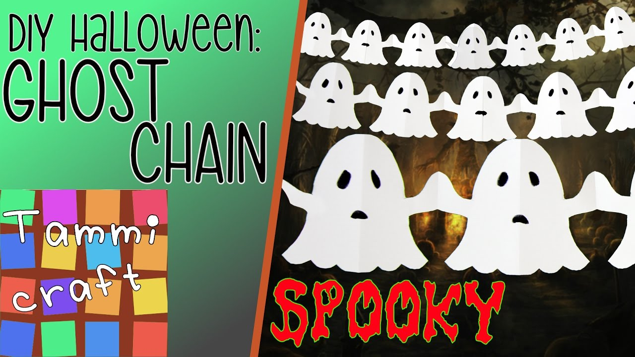 How to Make a Paper Chain of Ghosts Great for Kids Ghost Garland