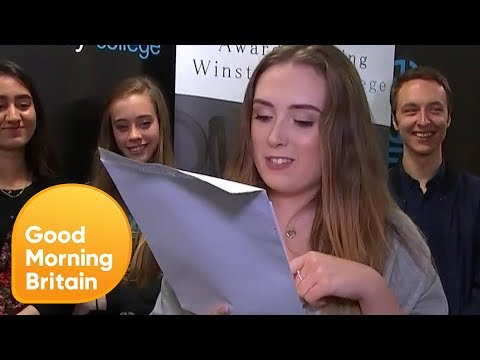 Students Open Their A-Level Results Live on GMB   Good Morning Britain
