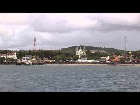 Llegando a la Isla de Itaparica
