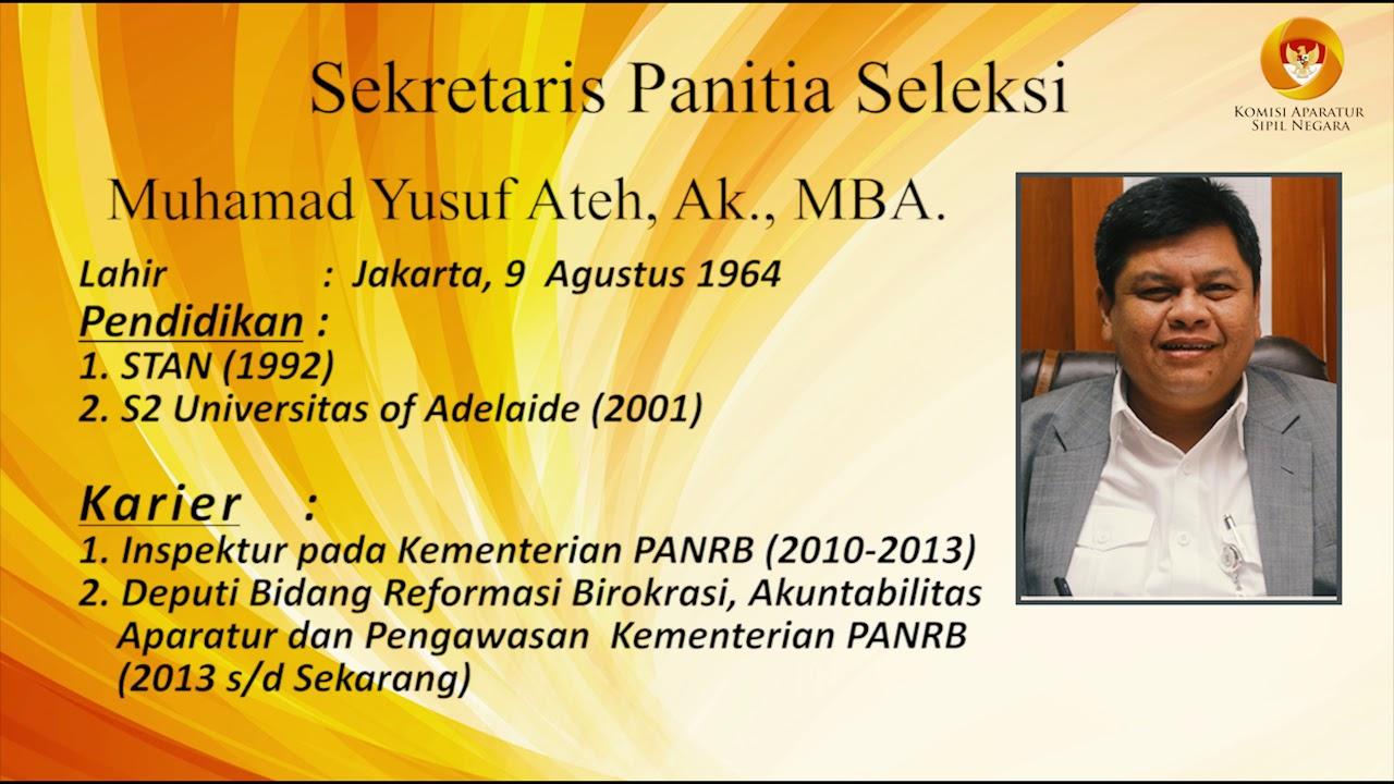 Profil Panitia Seleksi Calon Pimpinan KASN (2019-2024)