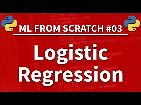 Logistic Regression In Python - Machine Learning From Scratch 03 - Python Tutorial