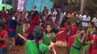 కోలాటం kolatam song 11 dance Maha Lakshmi Tirunallu, Pallipadu, gandhi colony