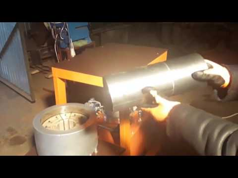 Станок для уменьшения диаметра стальных труб гидравлический.