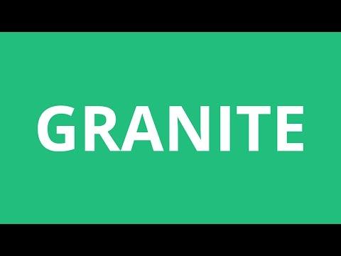 How To Pronounce Granite - Pronunciation Academy