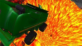Beamng drive - Jumping In Volcano High Speed Car Jumps #4