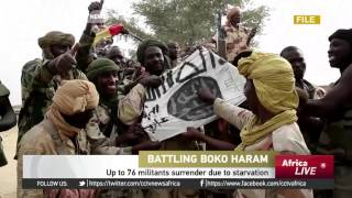Up to 76 Boko Haram militants surrender to Nigerian army due to starvation