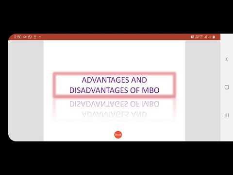 Advantages And Disadvantages Of MBO (chapter 3)