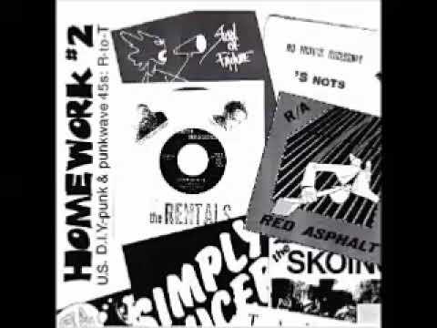 Various – Homework # 2: U.S. D.I.Y. Punk & Punkwave 45s: R To T 70's 80's Indie Rock Music Album LP