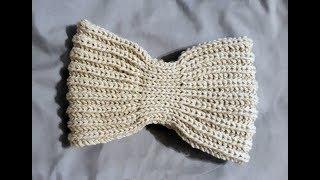 Повязка Бабочка. Вязание спицами. Мастер-Класс