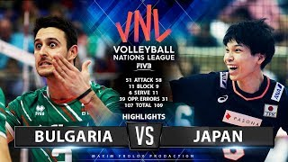 Bulgaria vs Japan | Highlights Men's VNL 2019