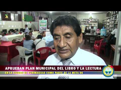 APRUEBAN PLAN MUNICIPAL DEL LIBRO Y LA LECTURA EN LA CIUDAD DE YURIMAGUAS COMO PARTE DE LA META 06