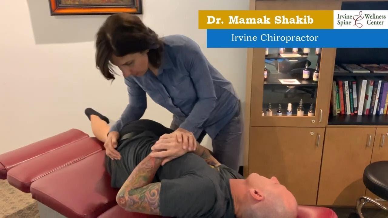 Chiropractic adjustment with MAIN Chiro discjustor - YouTube