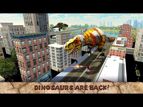 Dinosaur Rex City Attack 3D -By Virtual Animals World-Android