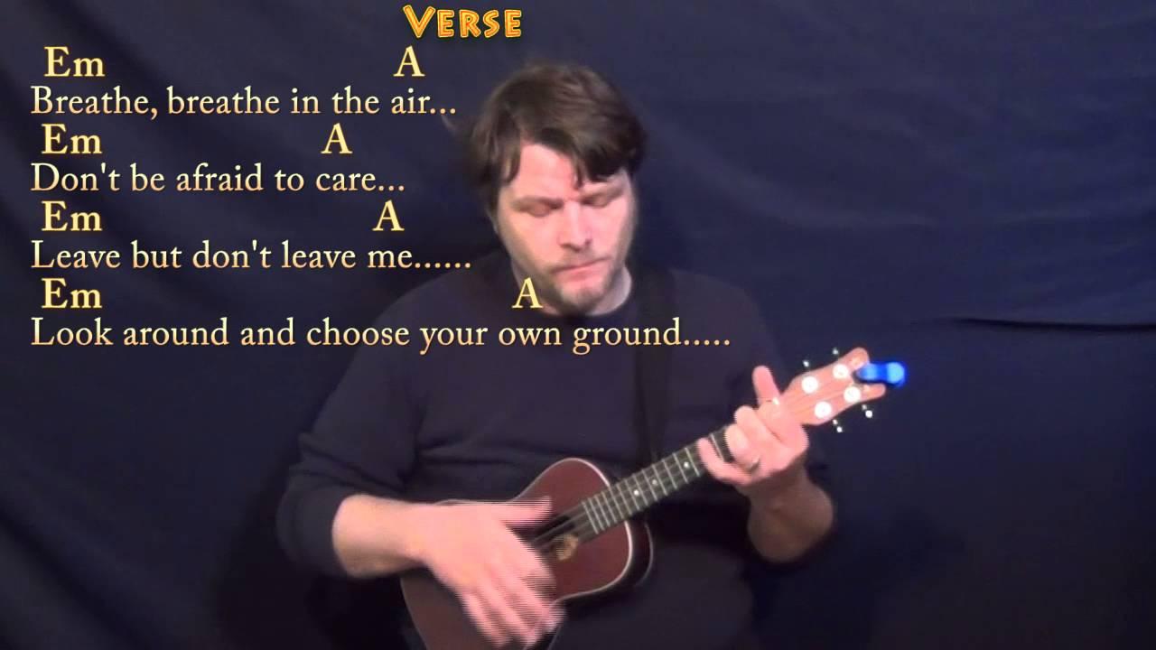 Breathe pink floyd ukulele cover lesson with chordslyrics youtube breathe pink floyd ukulele cover lesson with chordslyrics hexwebz Images