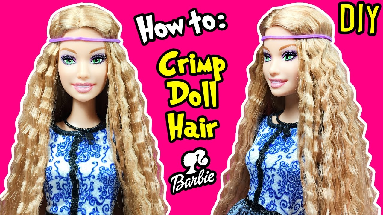 How to Crimp Barbie Doll Hair - DIY Barbie Hairstyles Tutorial ...