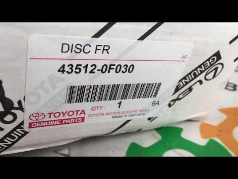 435120F030 43512-0F030 Оригинал диск тормозной передний Toyota Avensis Auris