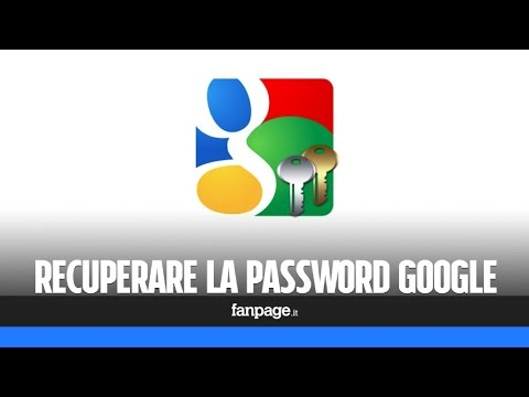 Recuperare password Google Gmail