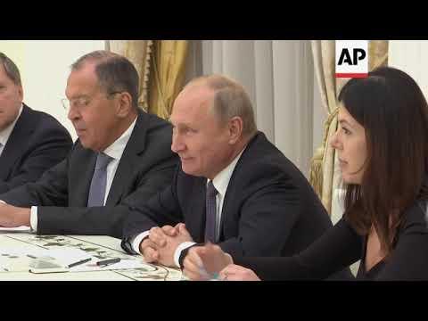 Russia's Putin meets US National Security Advisor John Bolton