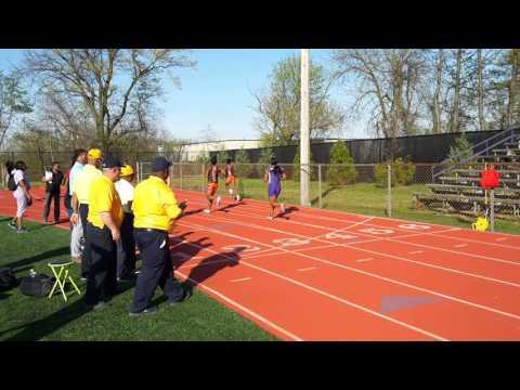 Video: 4/18/2016 Camden vs Woodrow Wilson Camden Track meet Girl's & Boy's 100m dash