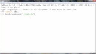How to Unescape (Decode) HTML Entities in a String in Python programming language