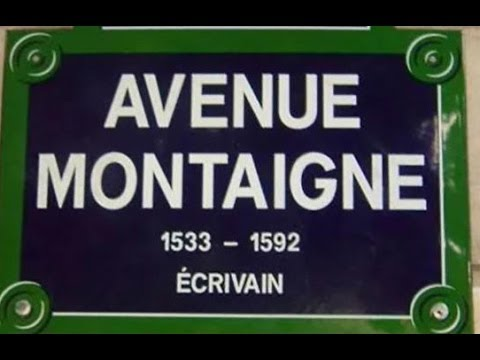 Avenue  Montaigne Paris Arrondissement  8e