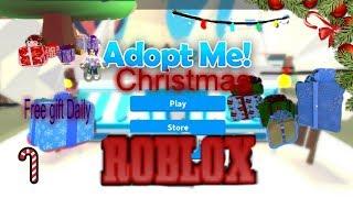 Adopt me Christmas Free Gift Daily ROBLOX
