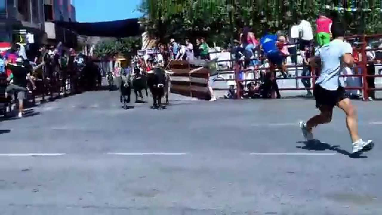 Encierros en navas del rey golpe del toro en la youtube - Pavimarsa navas del rey ...