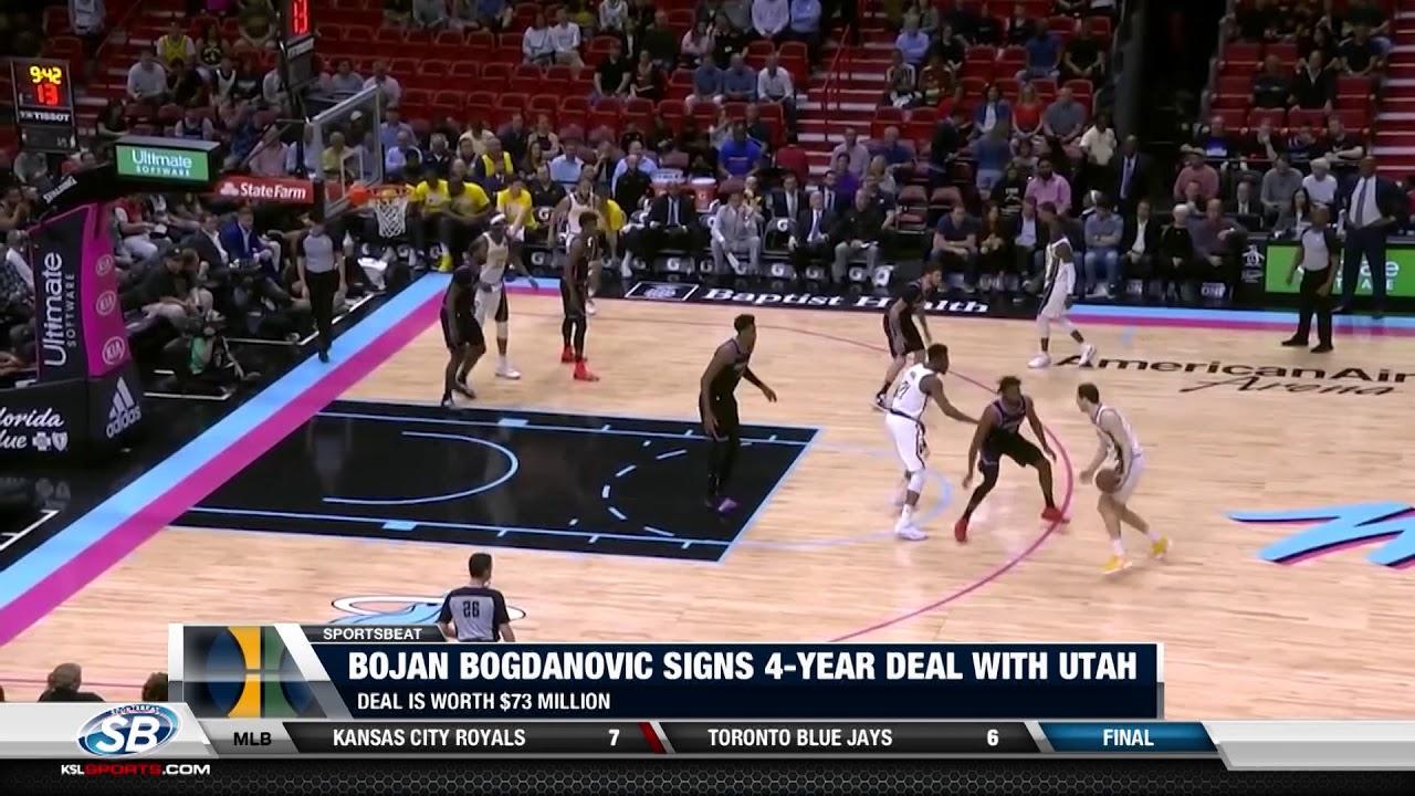 Bojan Bogdanovic agrees to four-year deal with Utah Jazz