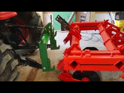 DIY Converting 3 point Tractor implement to quick attach or imatch