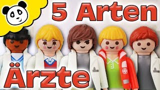 Playmobil Krankenhaus - 5 Arten von Ärzten - Playmobil Film - Pandido TV