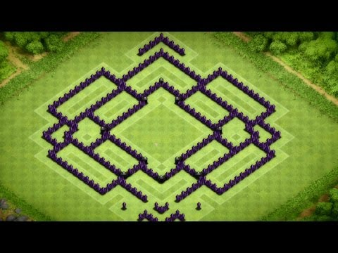 Clash Of Clans - Epic Town Hall 9 Trophy Base Speed Build - With Defense Replays - 2014