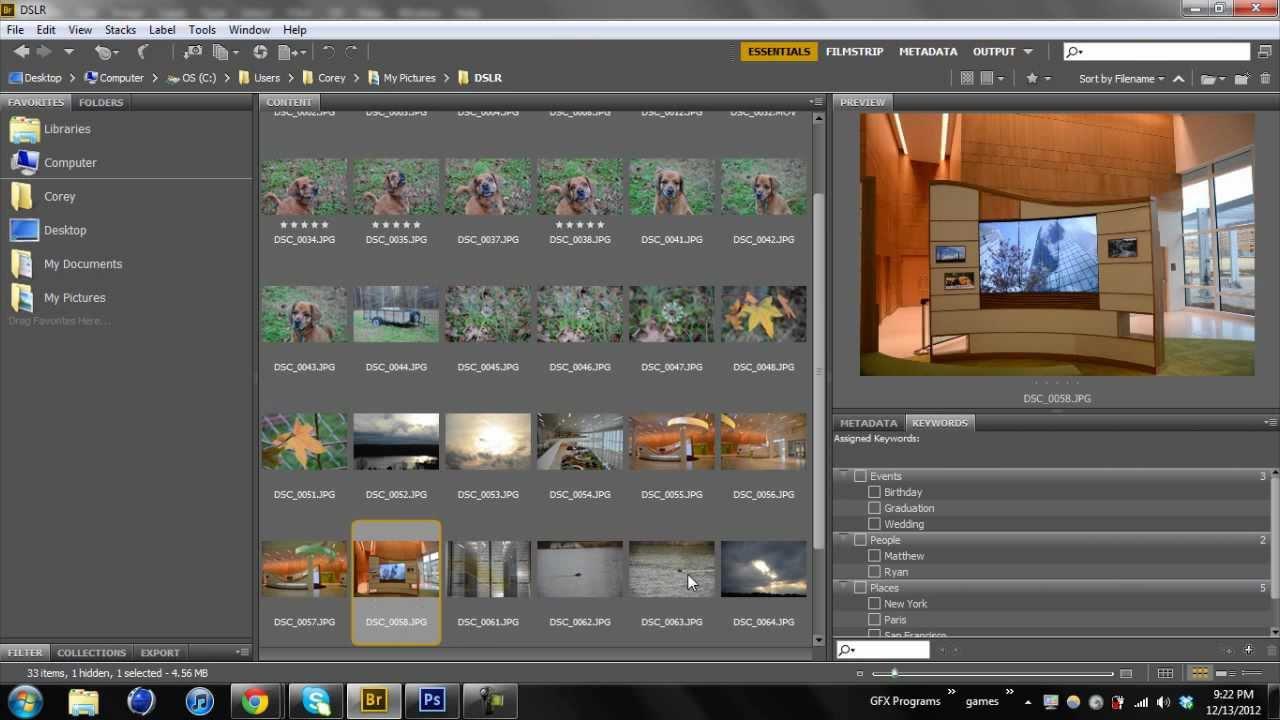 Adobe Bridge CS6: Basic Information Tutorial - YouTube