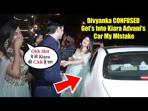 Divyanka CONFUSED| Get's Into Kiara Advani's Car My Mistake | Ekta Kapoor Diwali Party